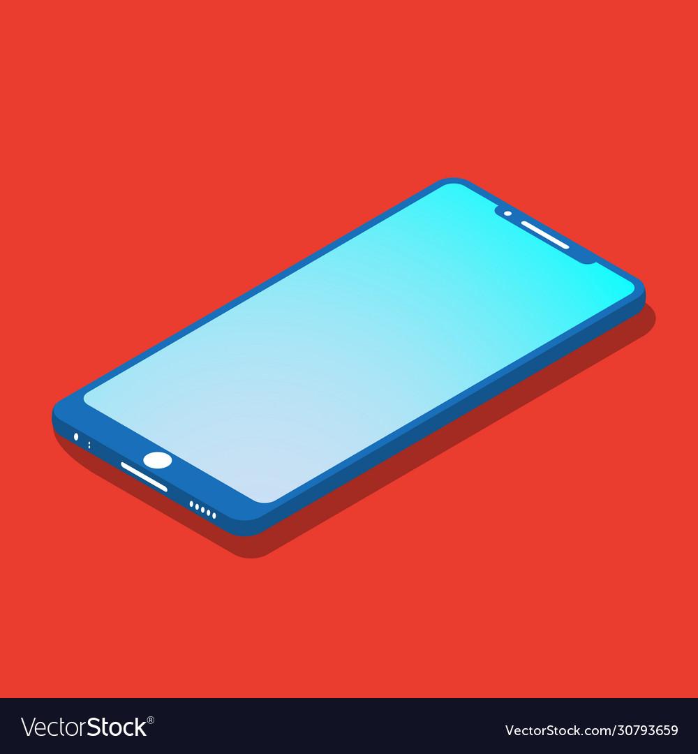 Smartfon flat icon isometric