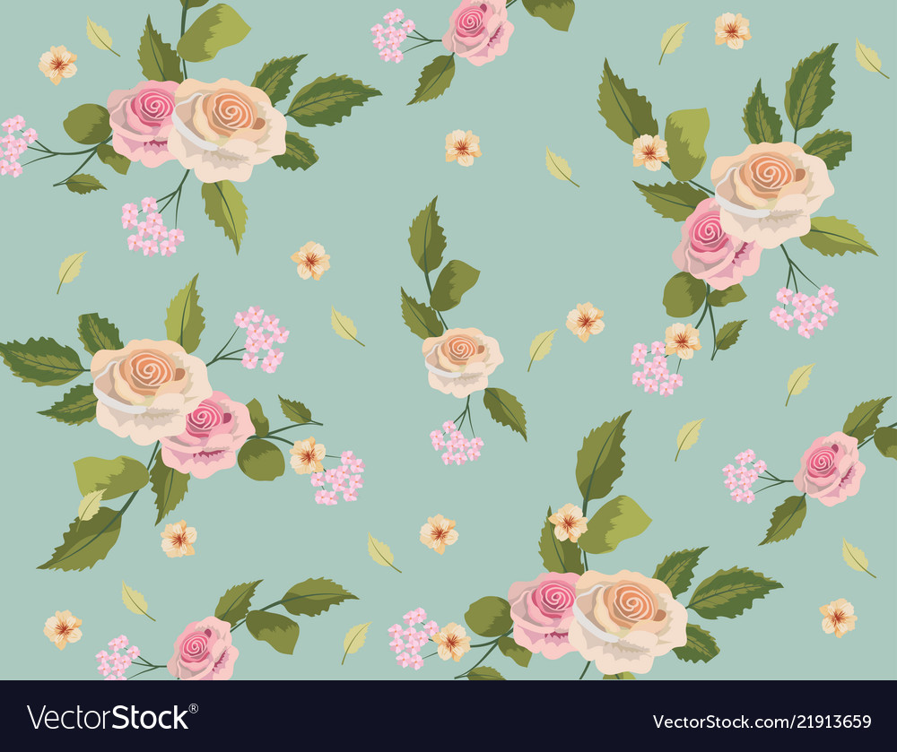 Vintage Floral Background Royalty Free Vector Image