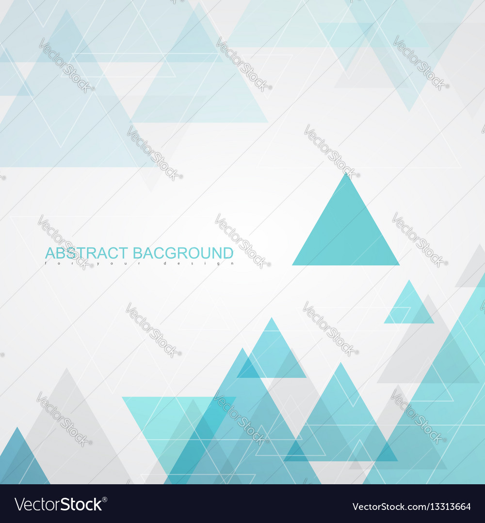 Abstract background textures by turquoise triangle vector image