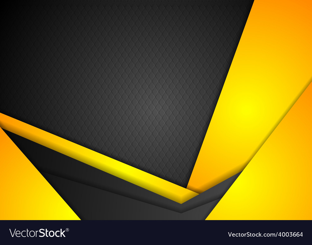 abstract dark yellow corporate background vector image