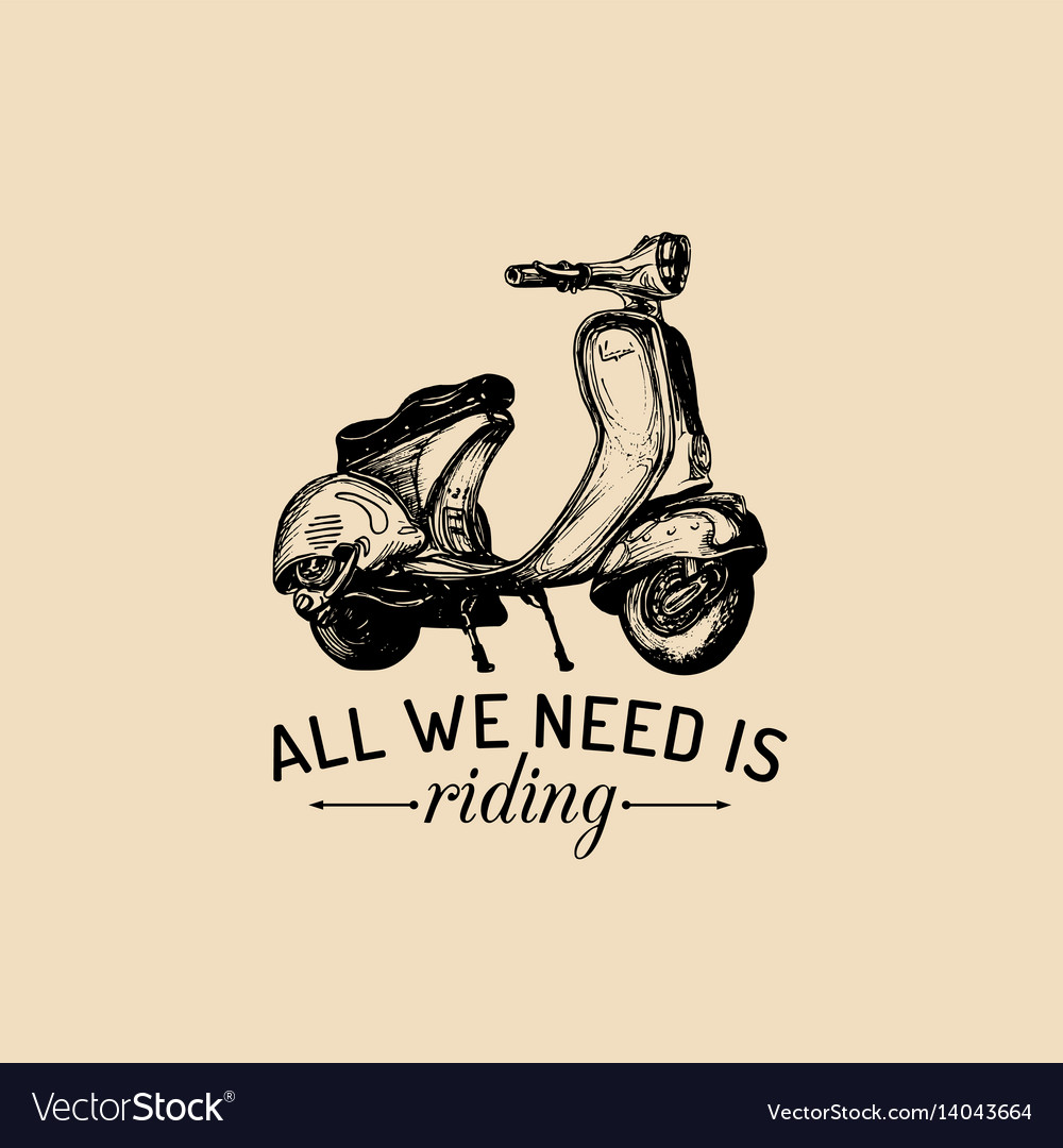 All we need is riding typographic poster