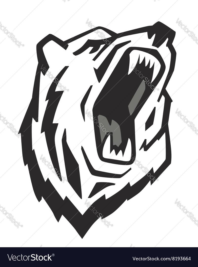 angry bear royalty free vector image vectorstock rh vectorstock com bear factory shop uk bear factory outlet