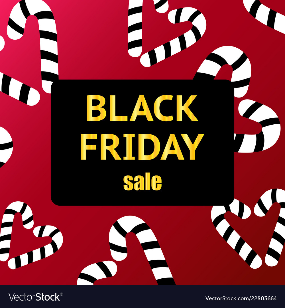 Black friday sale poster with shiny black hearts