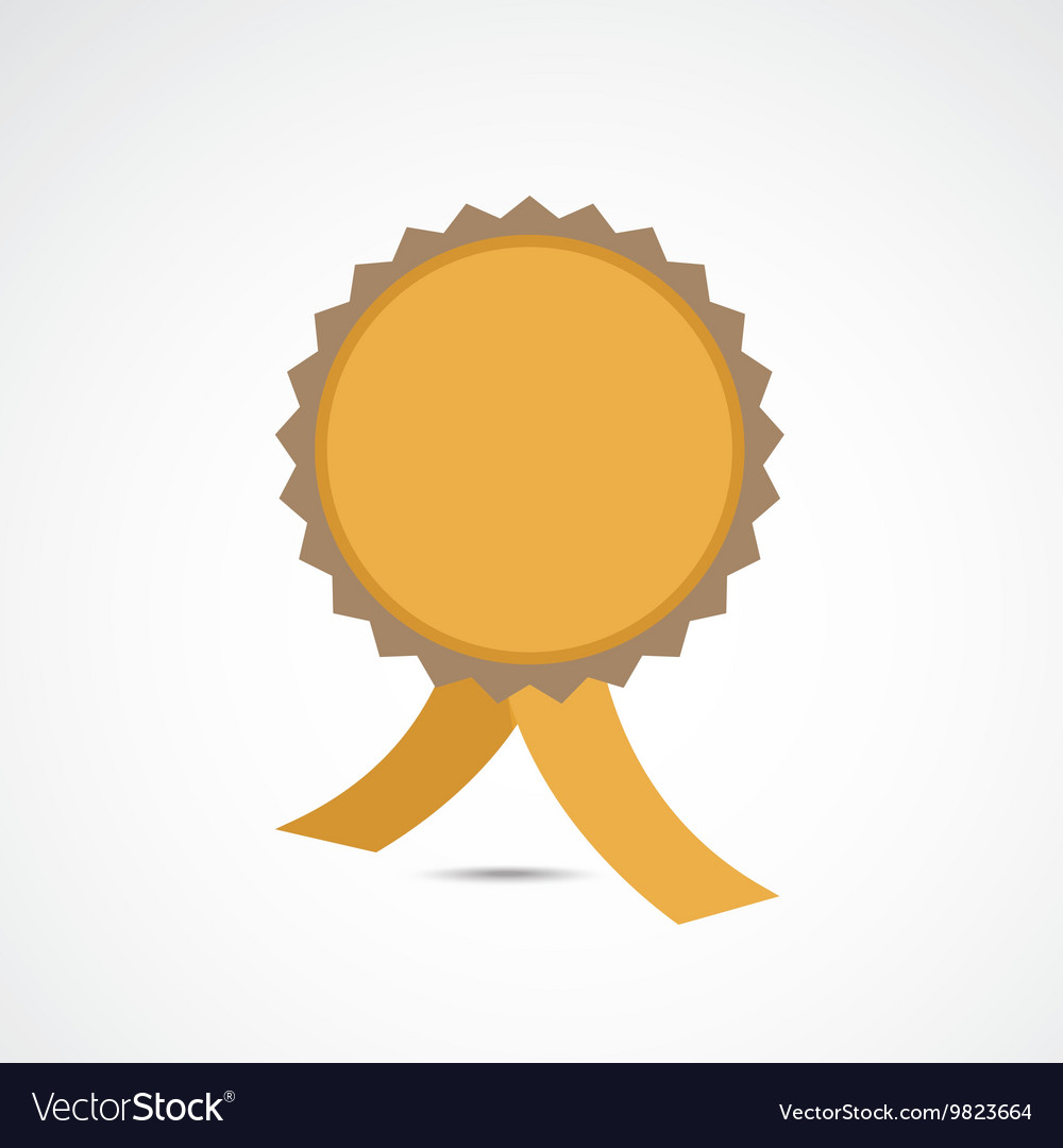 Golden championship medal