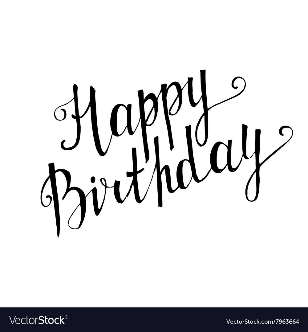 Happy birthday handwritten lettering