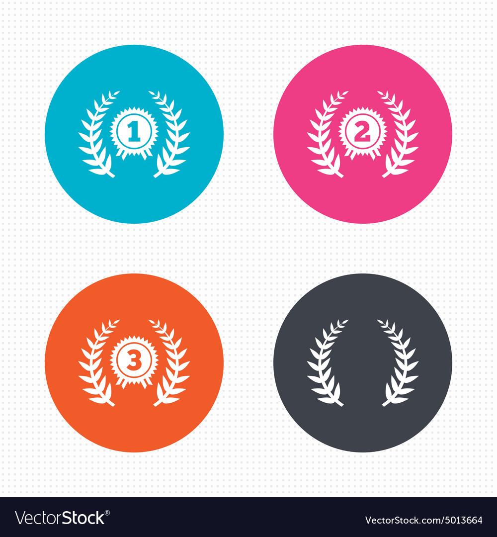 Laurel wreath award icons Prize for winner