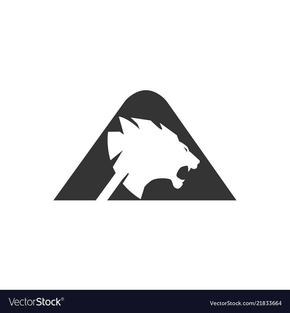Letter a lion head