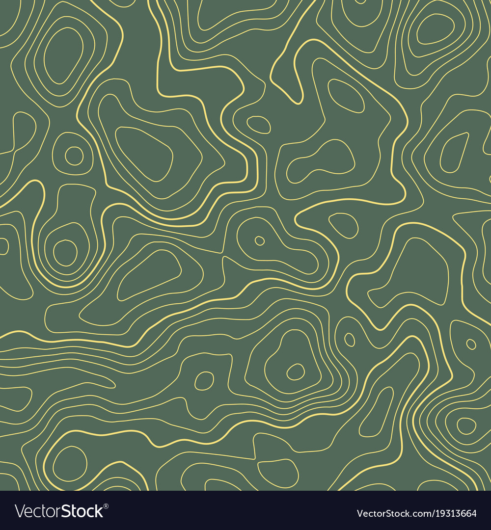 How Do You Find The Elevation On A Topographic Map.Line Topographic Map Contour Elevation Background Vector Image