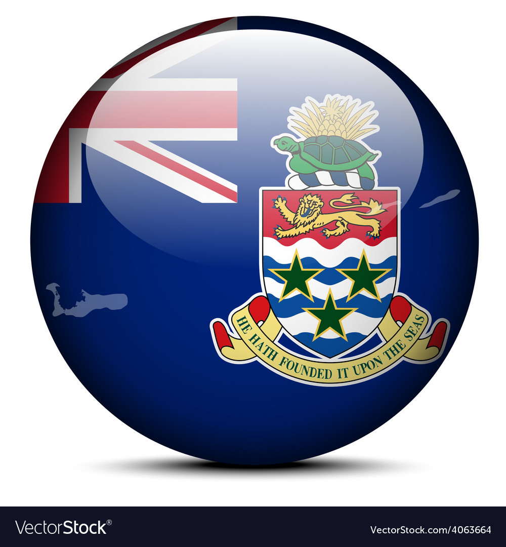 Map on flag button of Cayman Islands