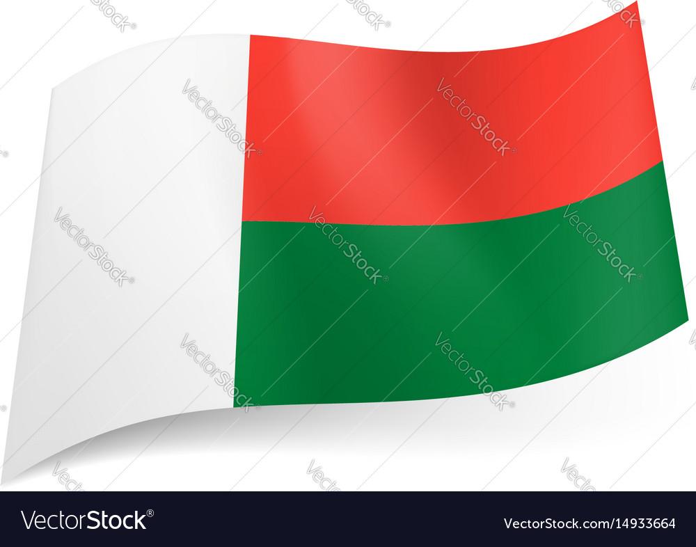 National flag of madagascar vertical white band