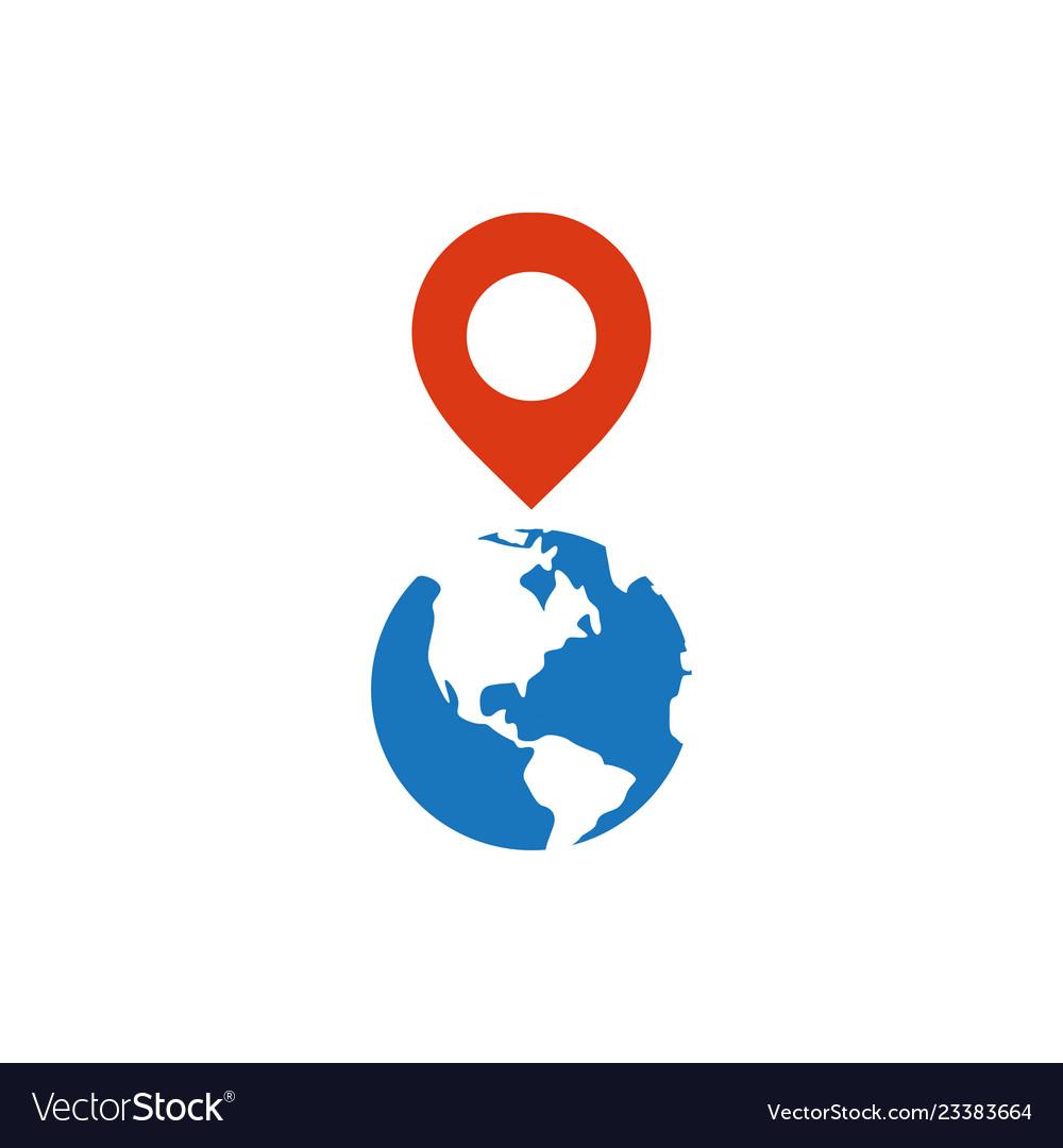 Pin map graphic icon design template