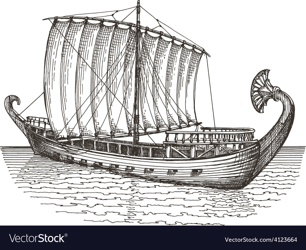 Ship Logo Design Template Boat Or Vector Image