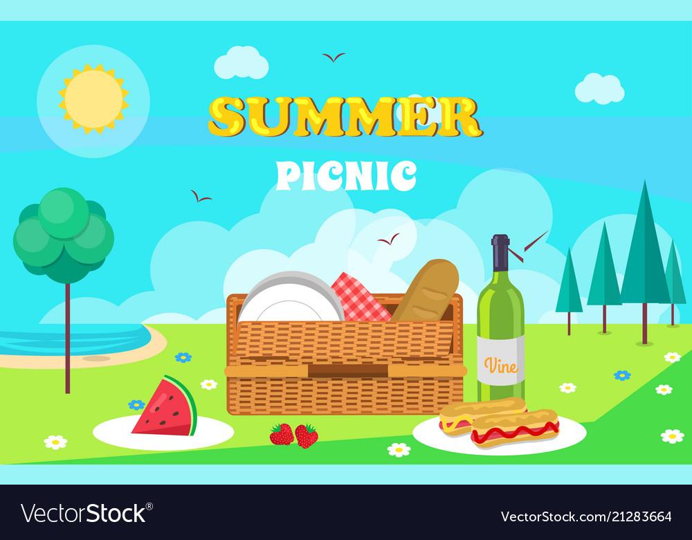 Summer picnic composition