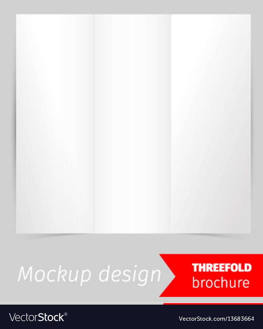 Three fold brochure mockup design