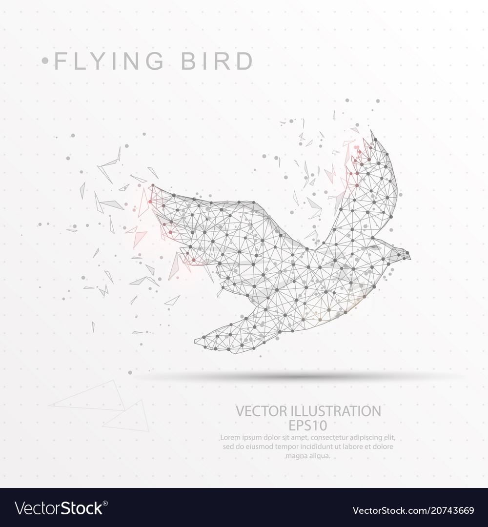 Wireframe Bird Flying Wire Center 00 Authorrebekka Keyword Radio Control Car Receiver Fromseekic Shape Digitally Drawn Low Poly Frame Vector Image Rh Vectorstock Com Beautiful Birds