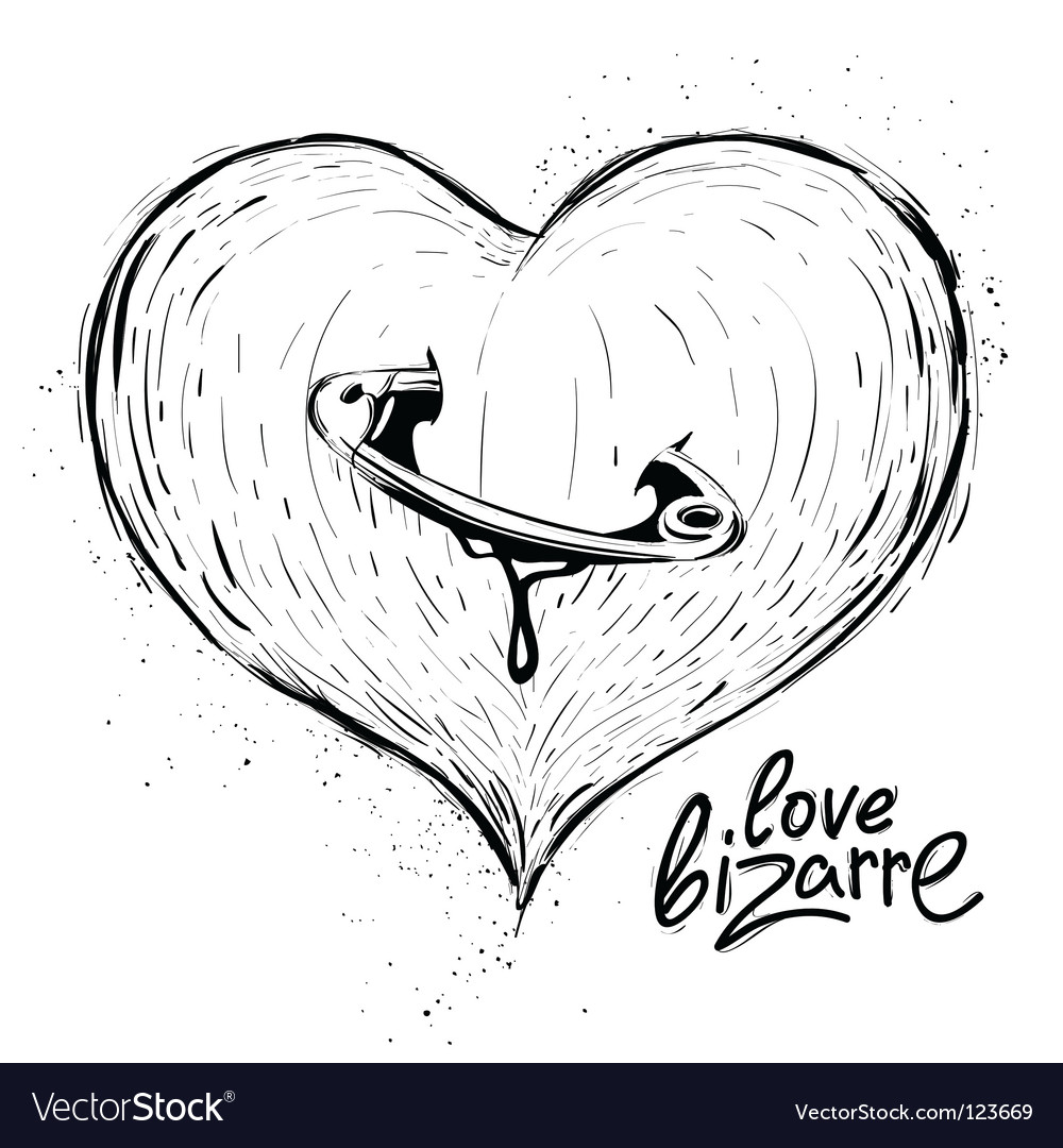 Heart sketch vector image