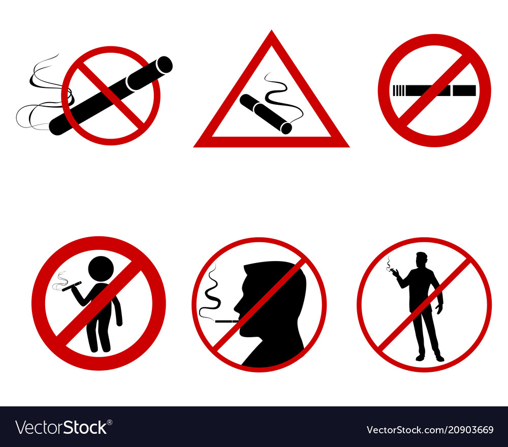 Icon set do not smoke