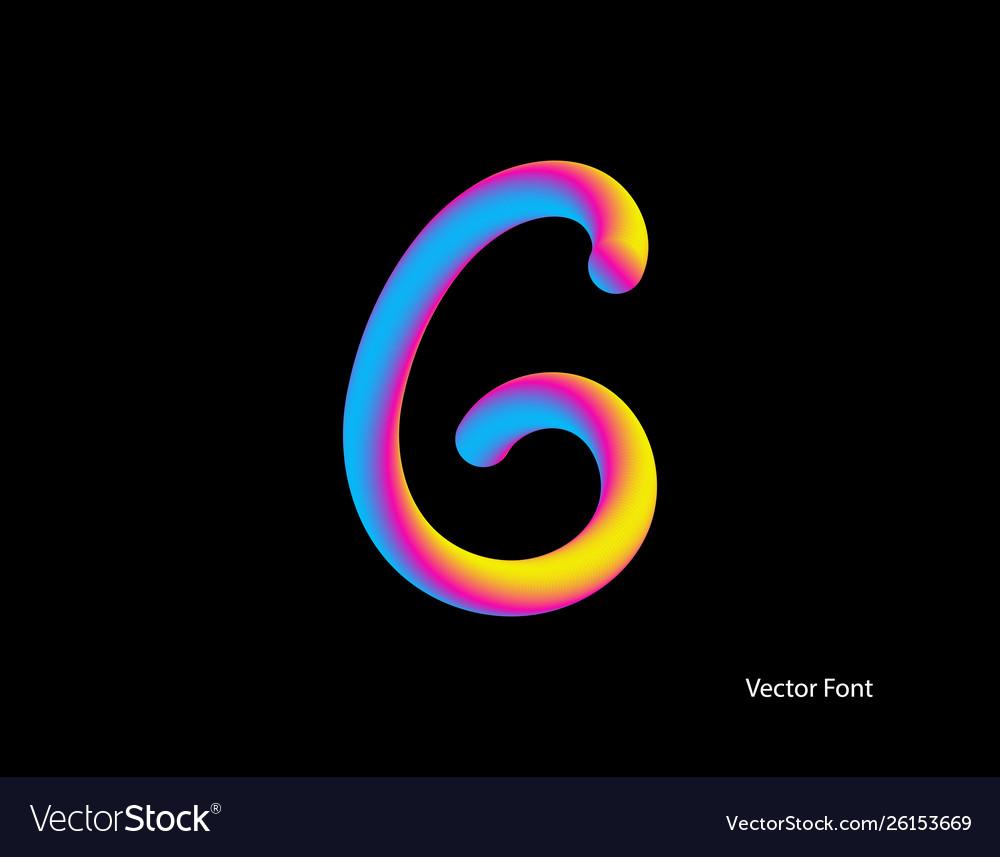 Letter abstract letter blend line logo symbol
