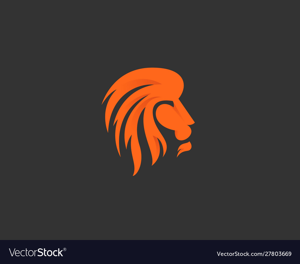 Lion logo design icon symbol logotype side