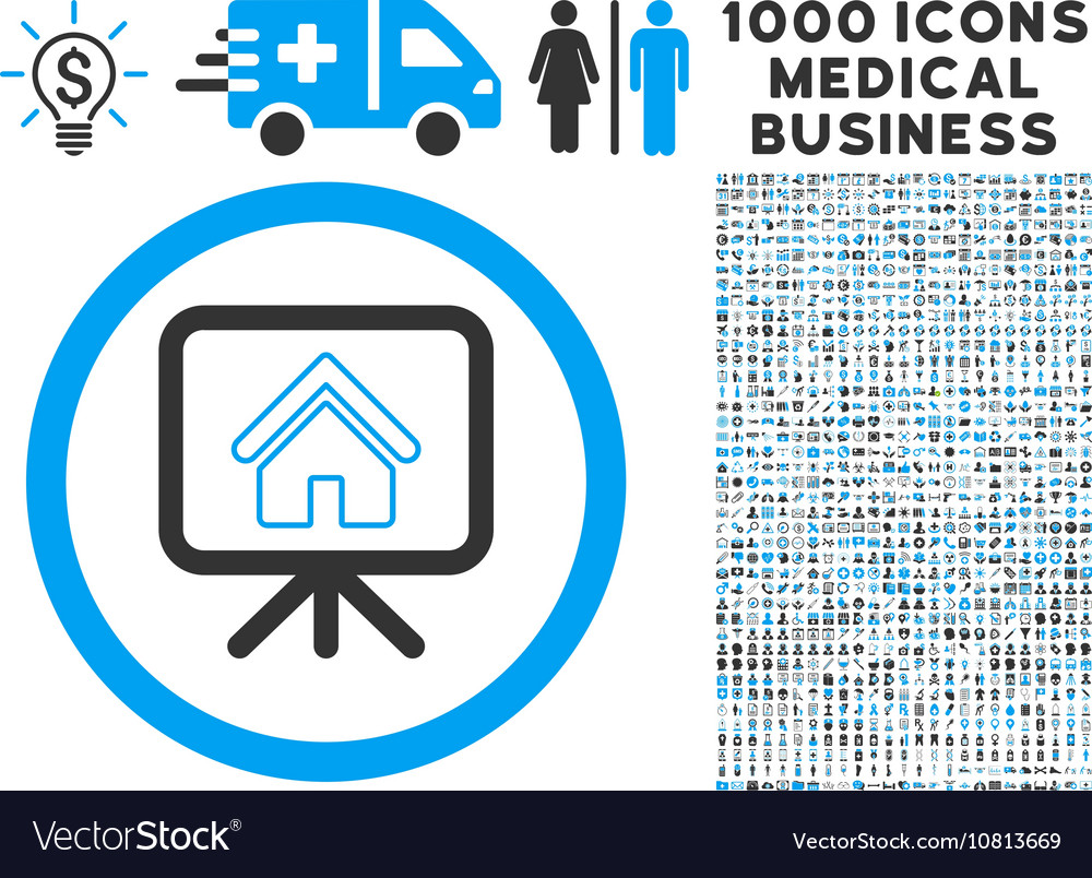 project slideshow icon with 1000 medical business vector image