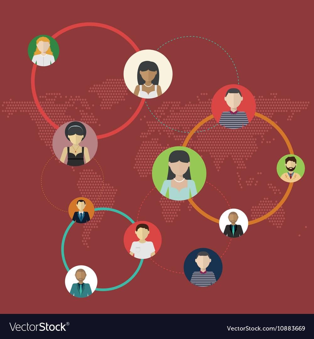 Social Media Circles Network Social