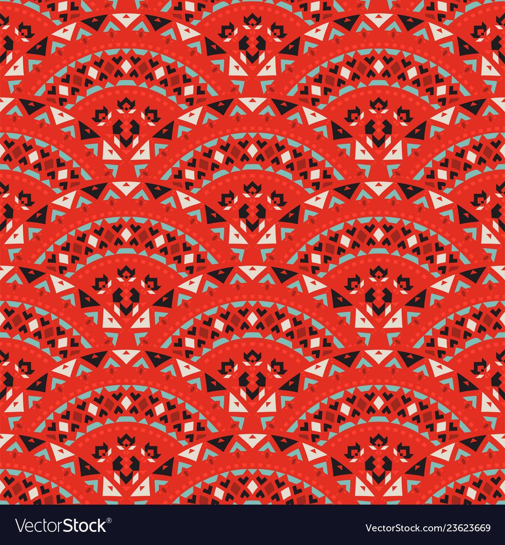 Tribal art seamless pattern ethnic geometric