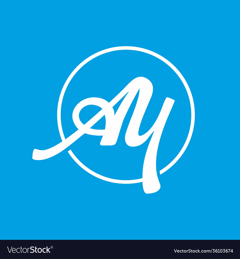 A and y initial letter logo template on bright