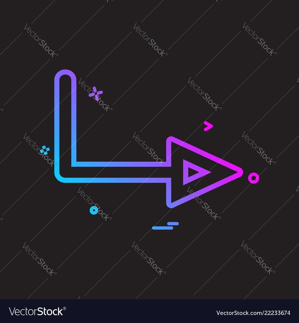 Arrow right sign traffic icon design