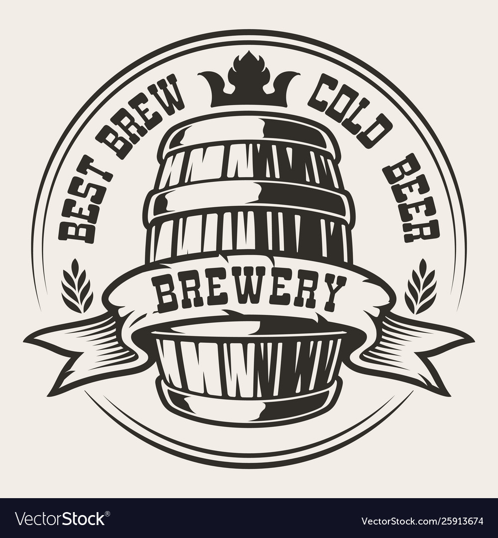 Badge with a barrel beer