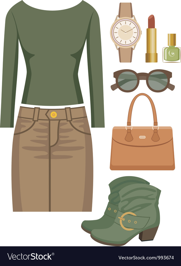 Fashion set with a skirt and a sweater