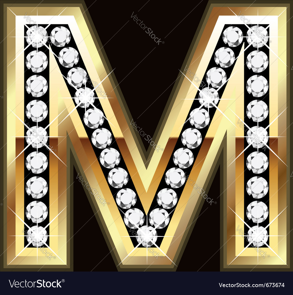 M bling vector image