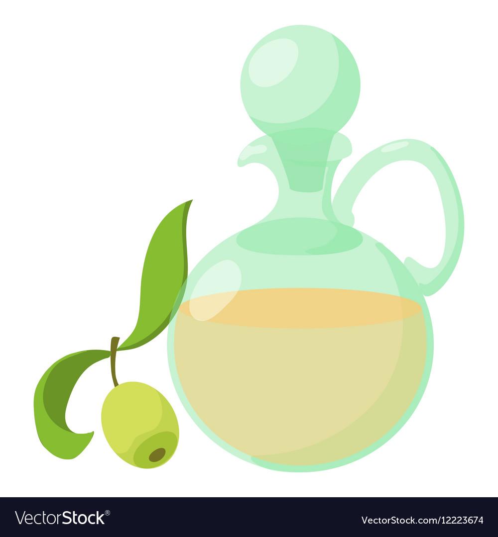 Olive oil icon cartoon style