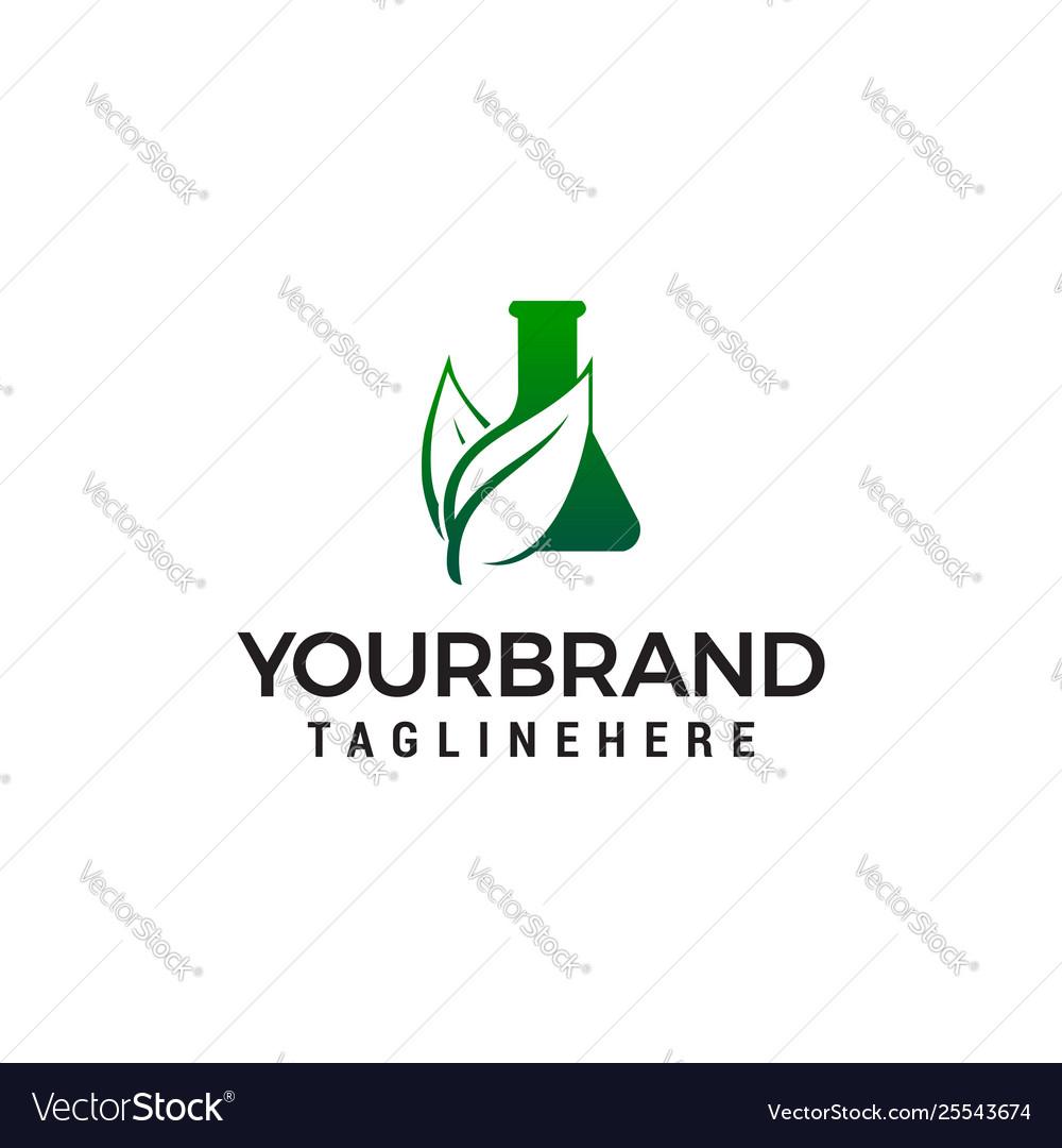 Potion leaf logo design concept template green