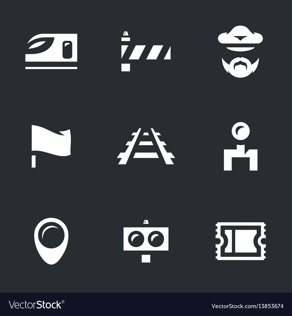 Set of train icons
