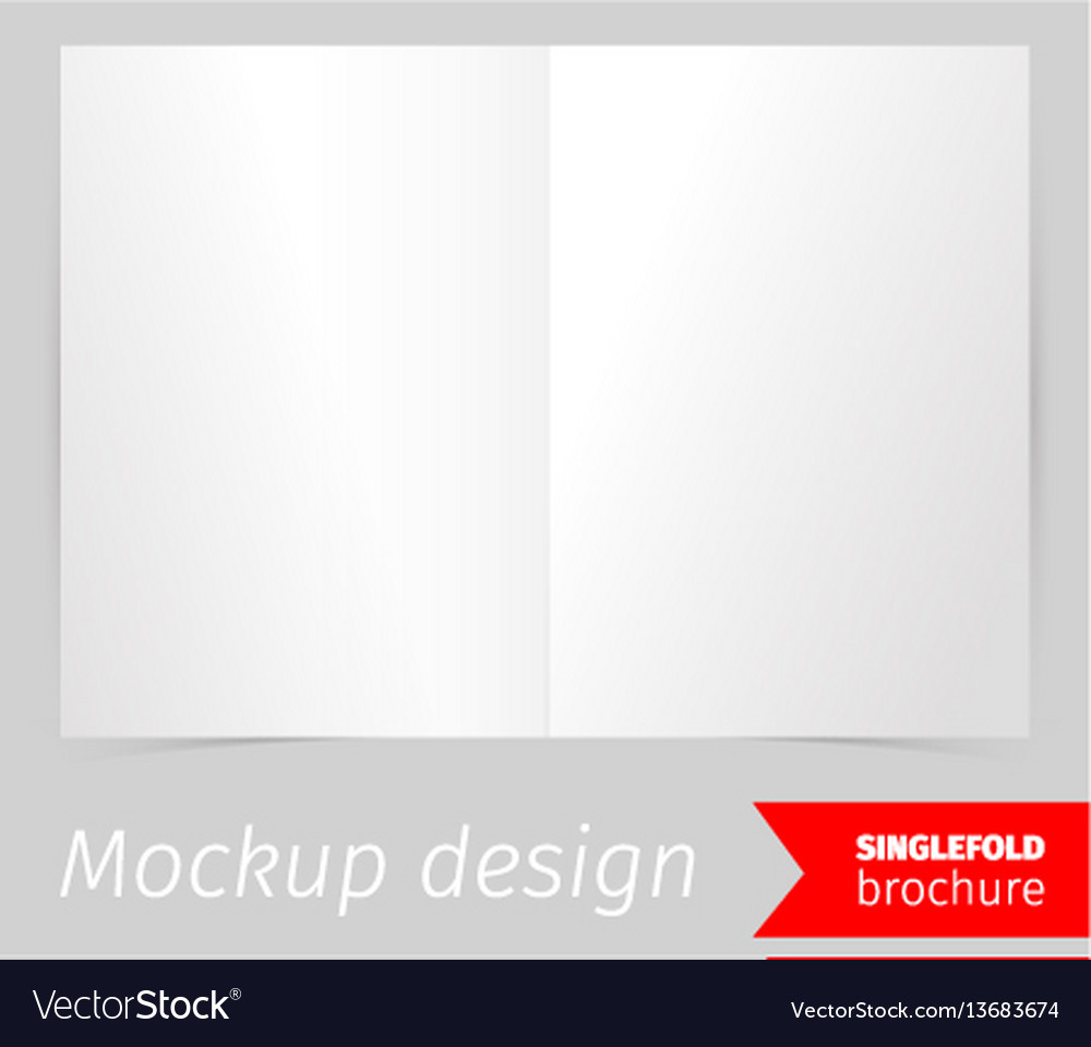 single fold brochure mockup design royalty free vector image