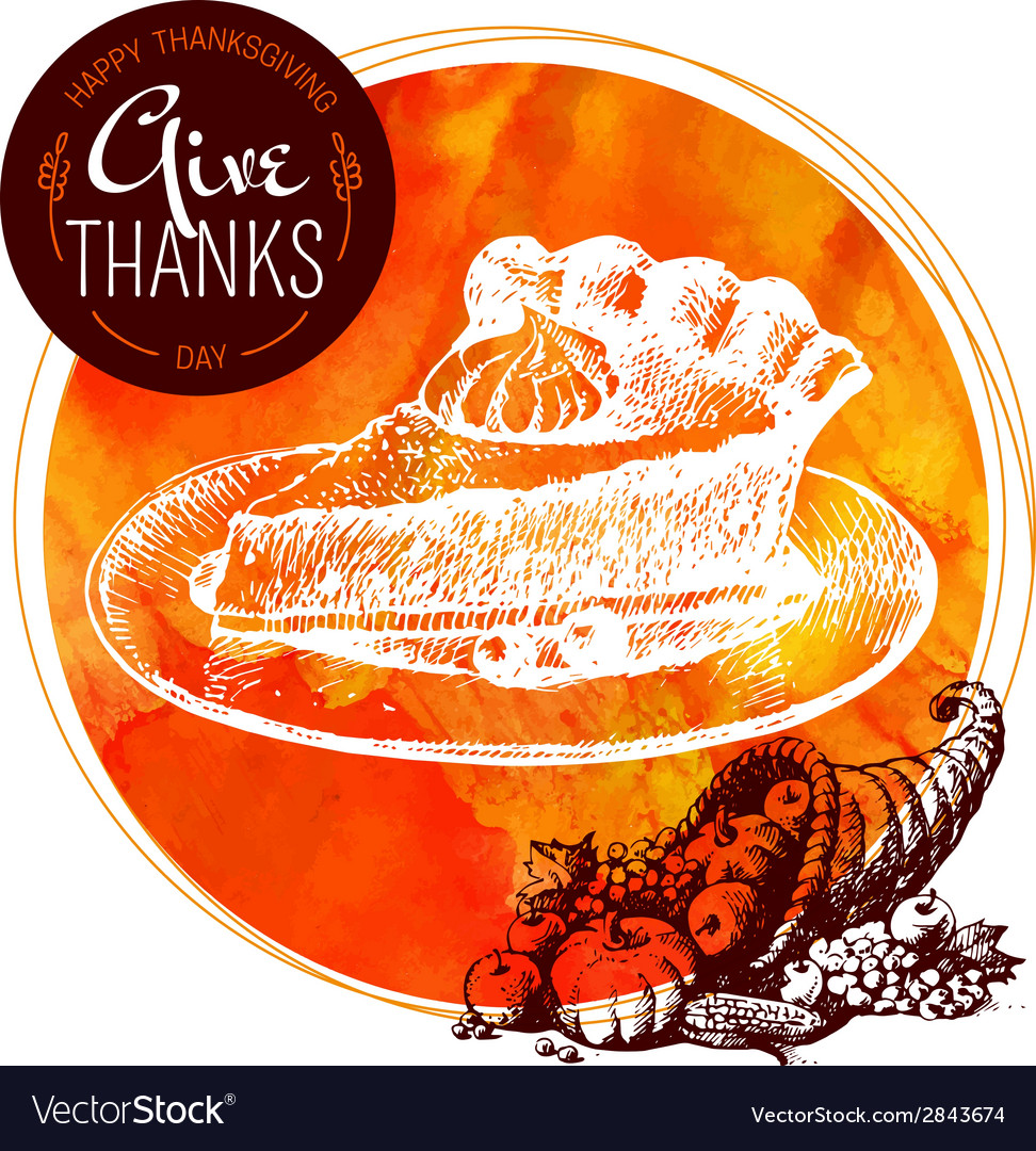 Thanksgiving Day background Typographic poster vector image