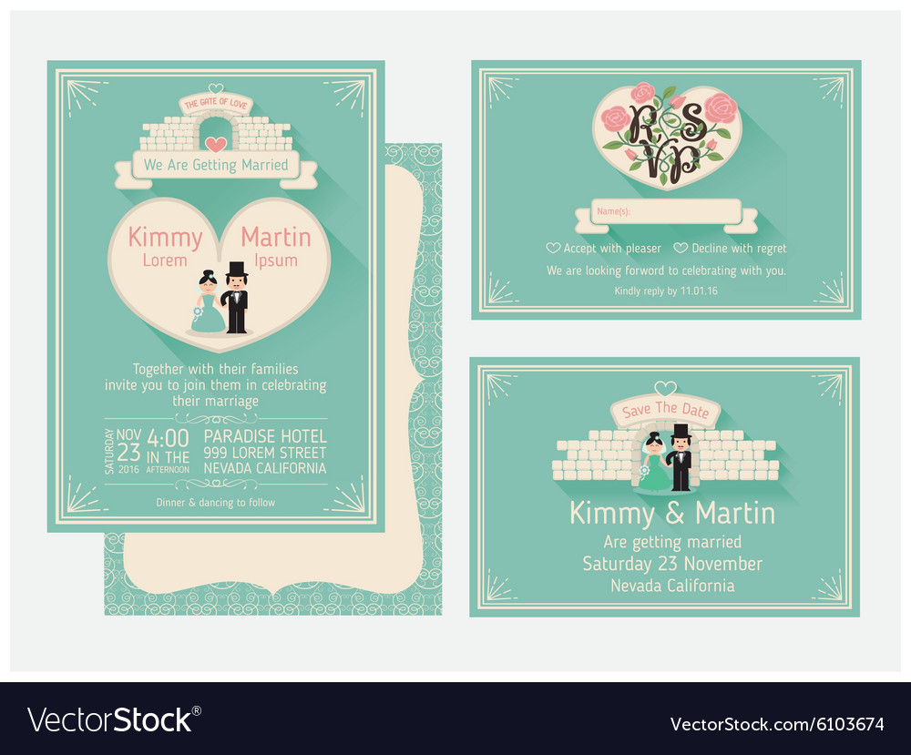 Wedding Invitation Design With The Gate Of Love