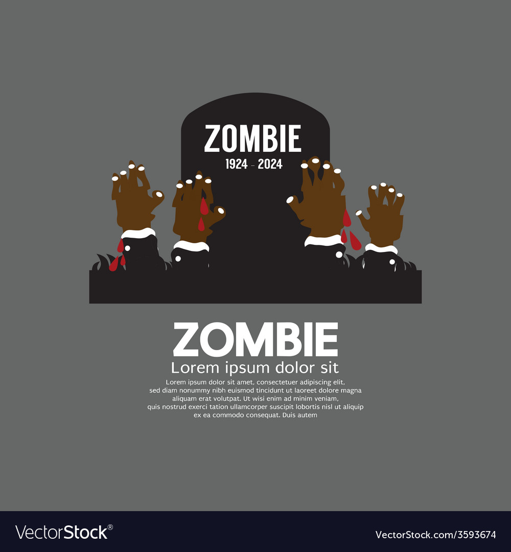 Zombie Hands Coming Out In Front Of The Grave