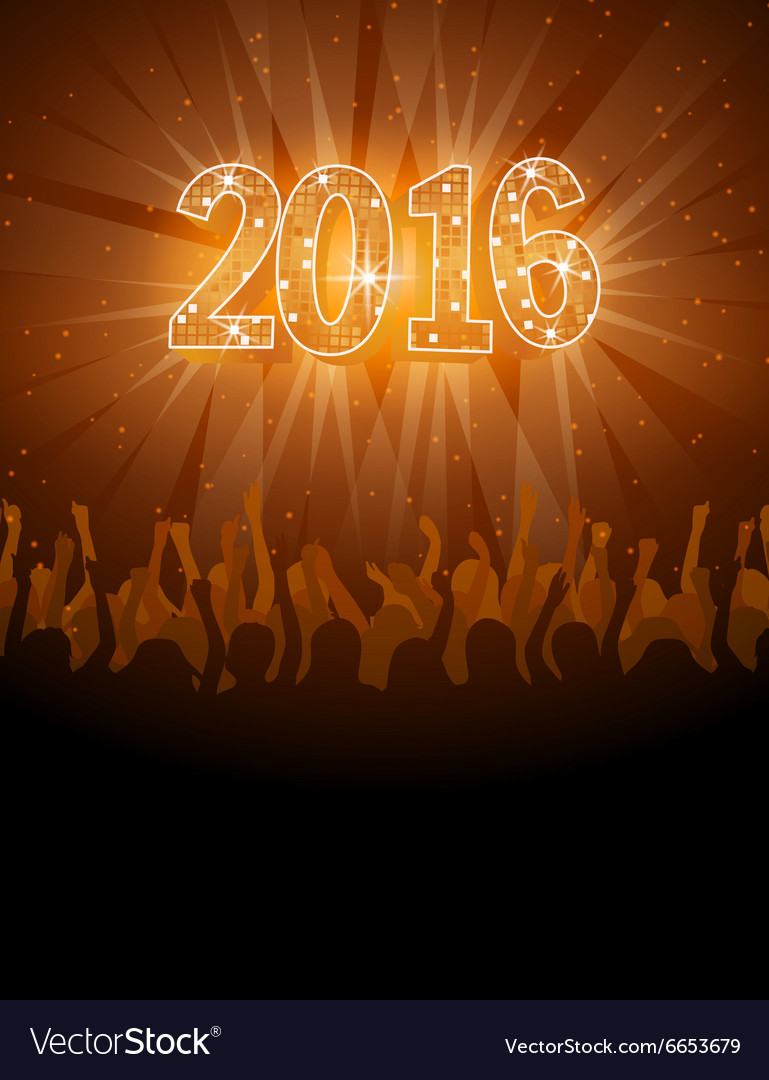 2016 happy New Year disco flyer