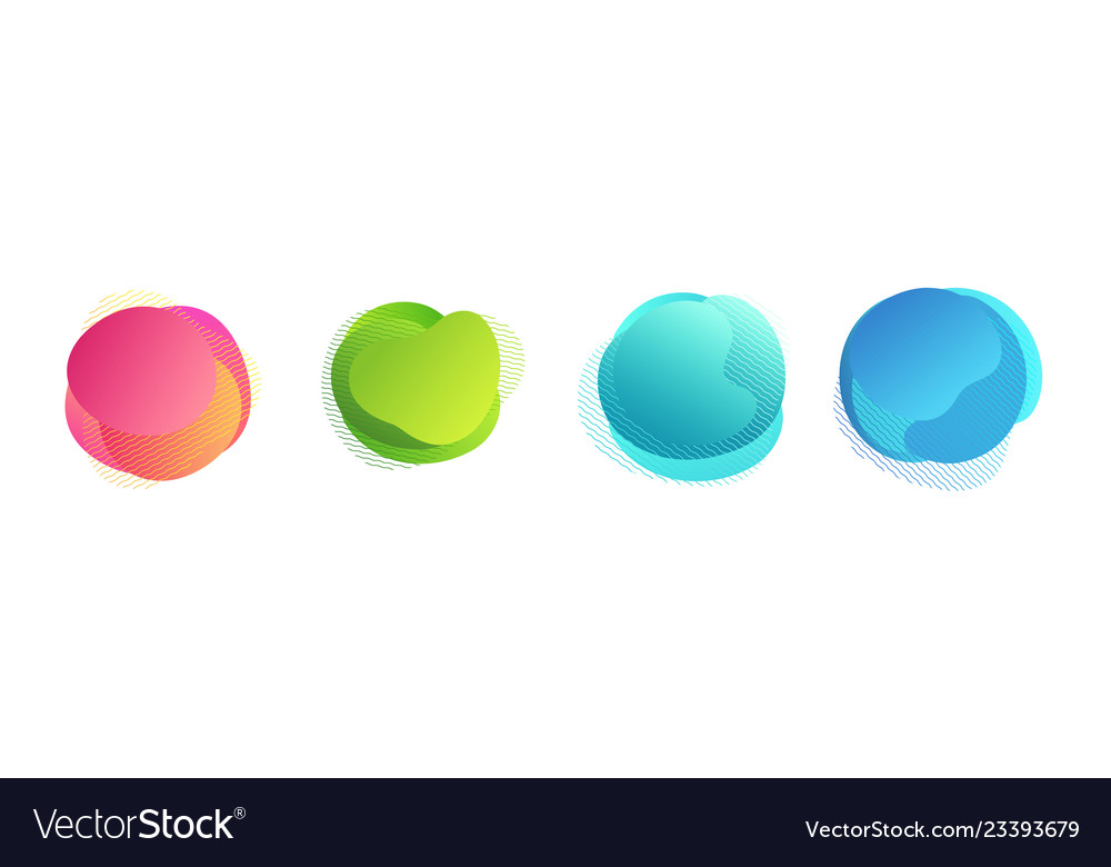 Abstract colored gradient shapes with lines