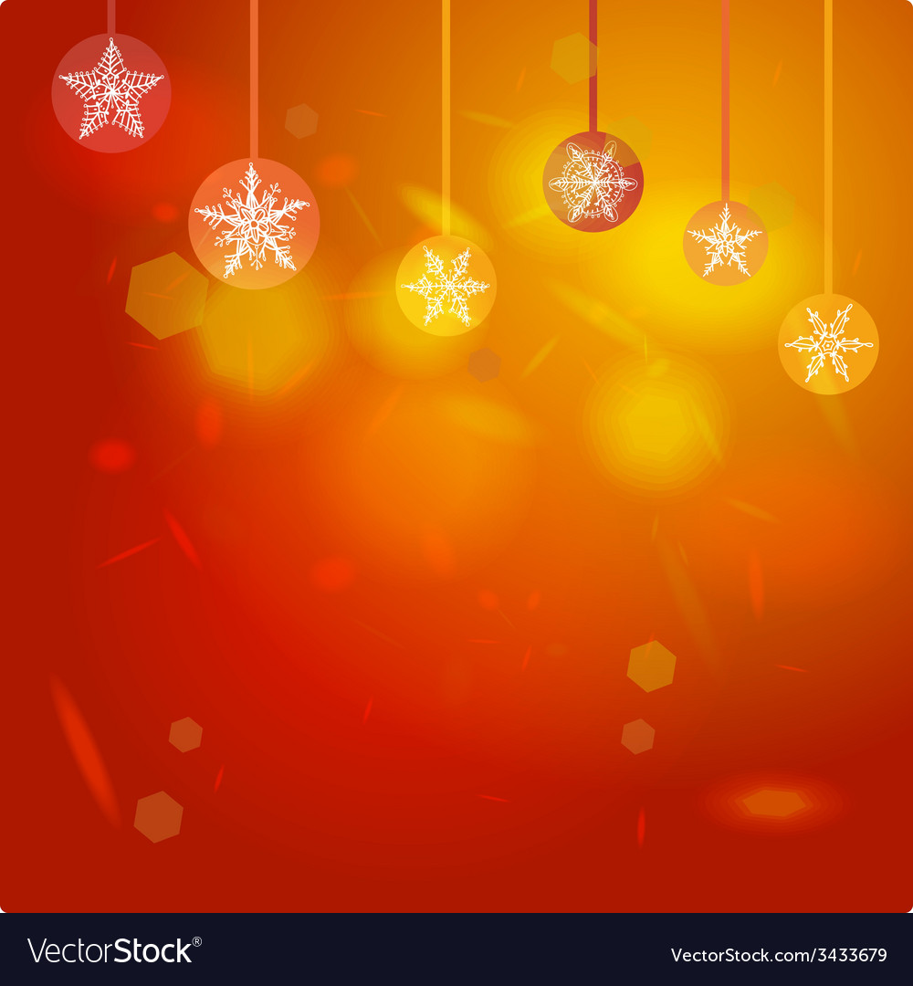 Abstract red background Merry Christmas card vector image