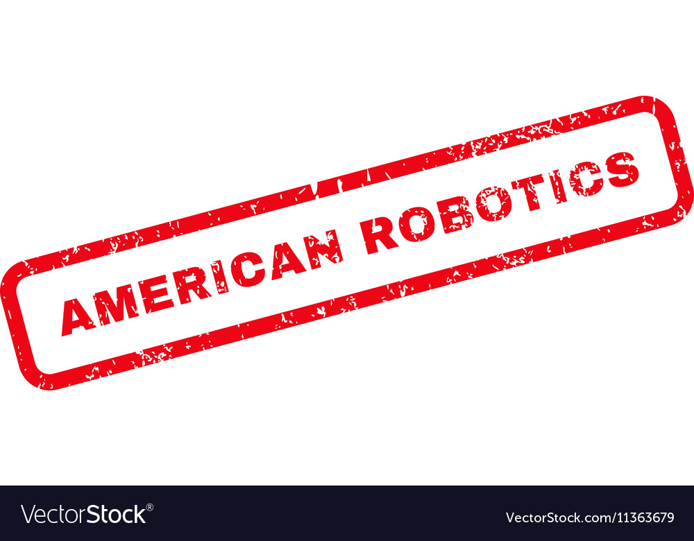 American Robotics Text Rubber Stamp Royalty Free Vector