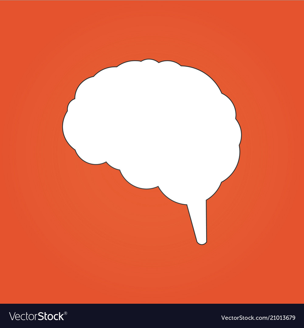 Brain icon can be used for web design apps