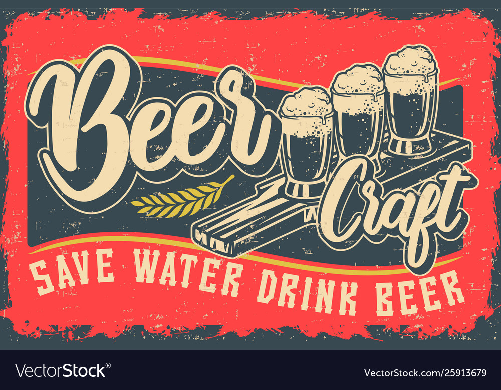 Color with beer and lettering
