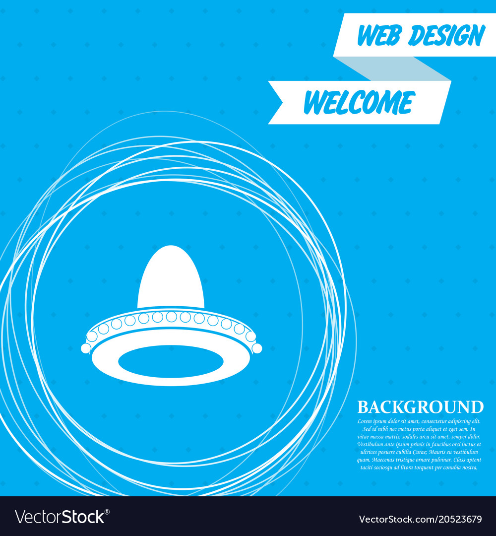 Cowboy hat icon on a blue background with