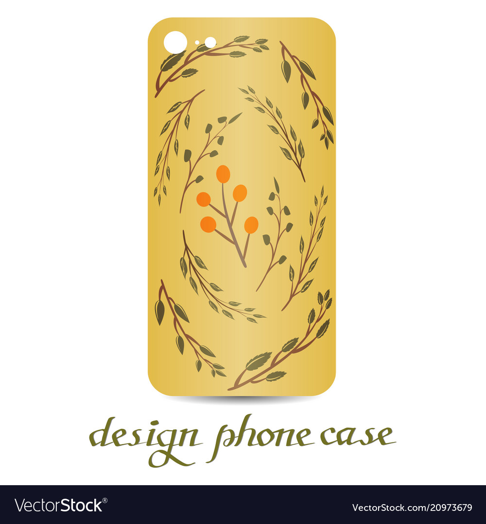 Design phone case vintage decorative elements