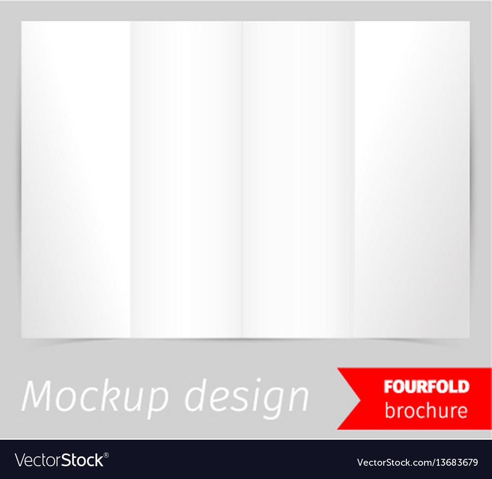 Fourfold brochure mockup design