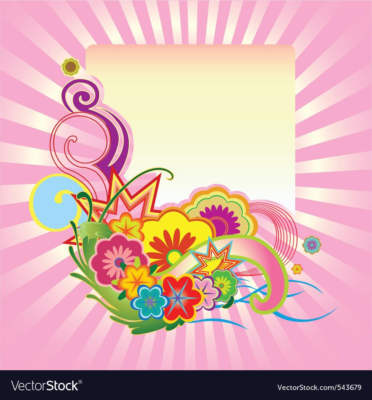 Funky flower design vector image