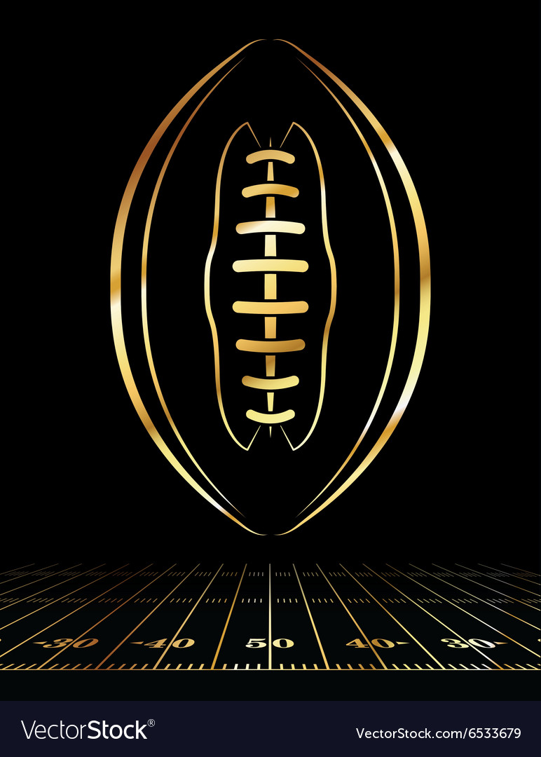 Golden American Football Vertical vector image