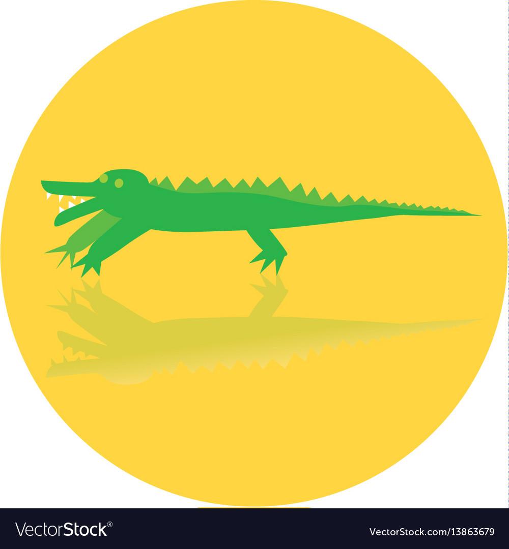 Icon toy of crocodile
